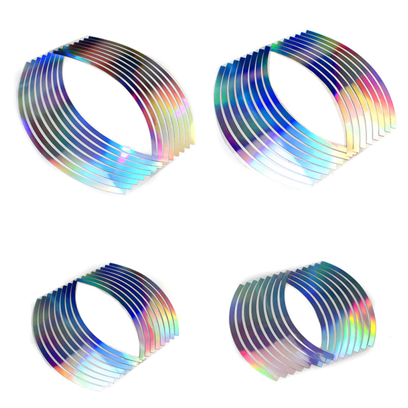 10/12/14/18 Laser wheel rim tape for motorcycle & car reflective body sticker