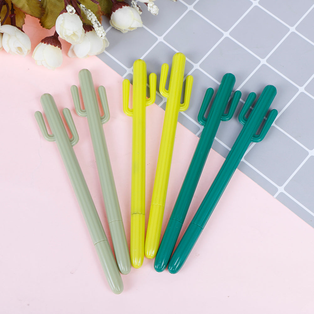 2pcs 0.5mm Stationery Creative Personality Cactus Gel Pen Stationery