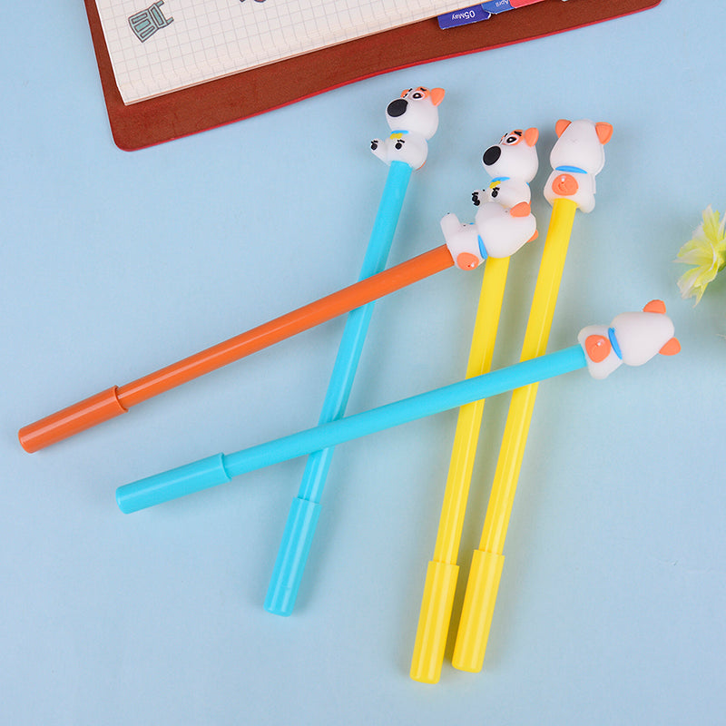 2pcs 0.38mm Colored cartoon dog gel pen office stationery school supplies