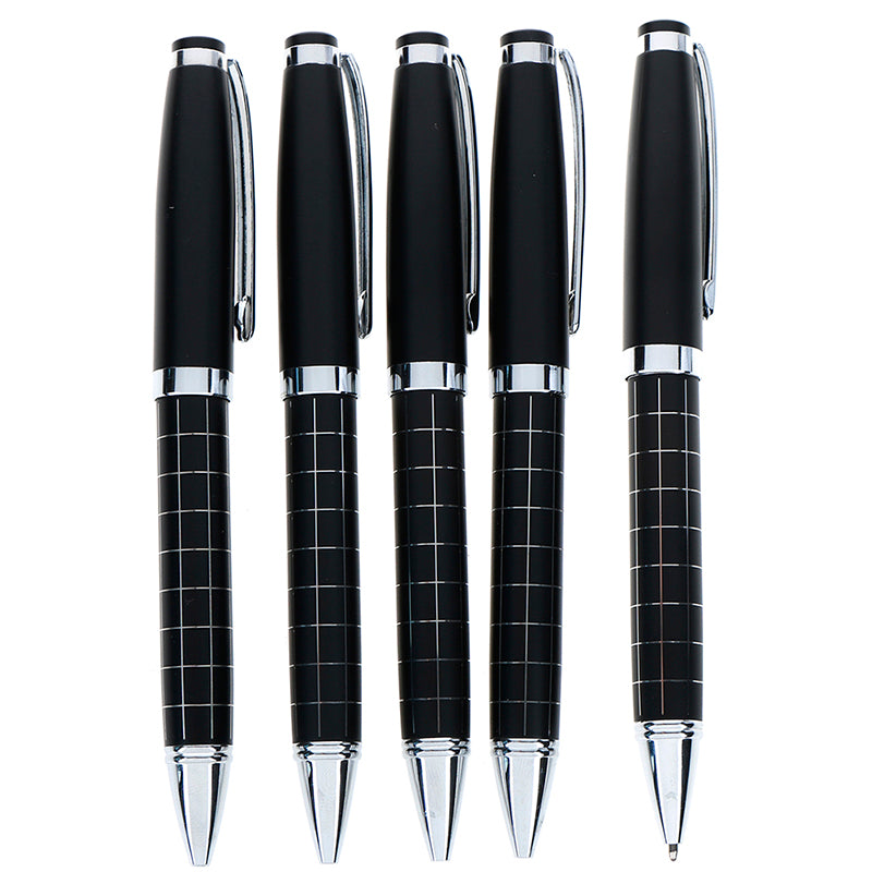 Luxury lattice metal ballpoint pen office school supplies rotary ball pen