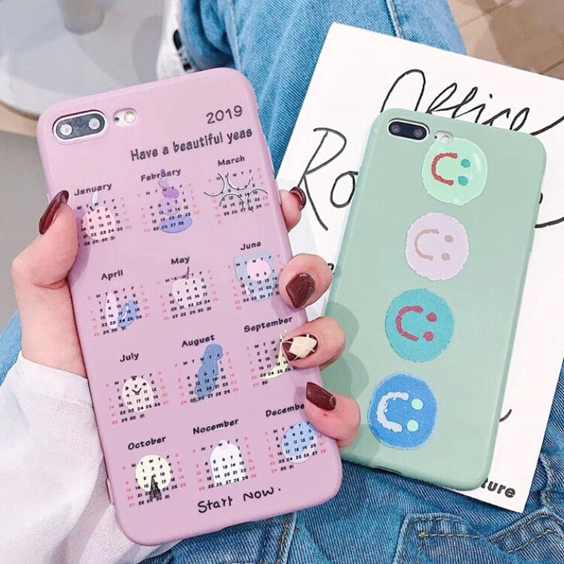 Calendar Style TPU Phone Case For iPhone x 6 6S 7 8 Plus X XR XS MAX