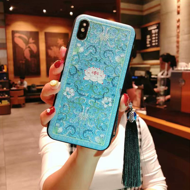 Retro Chinese reliefs soft TPU phone case For VIVO X23 X21 X20 X7 Y83 Y85