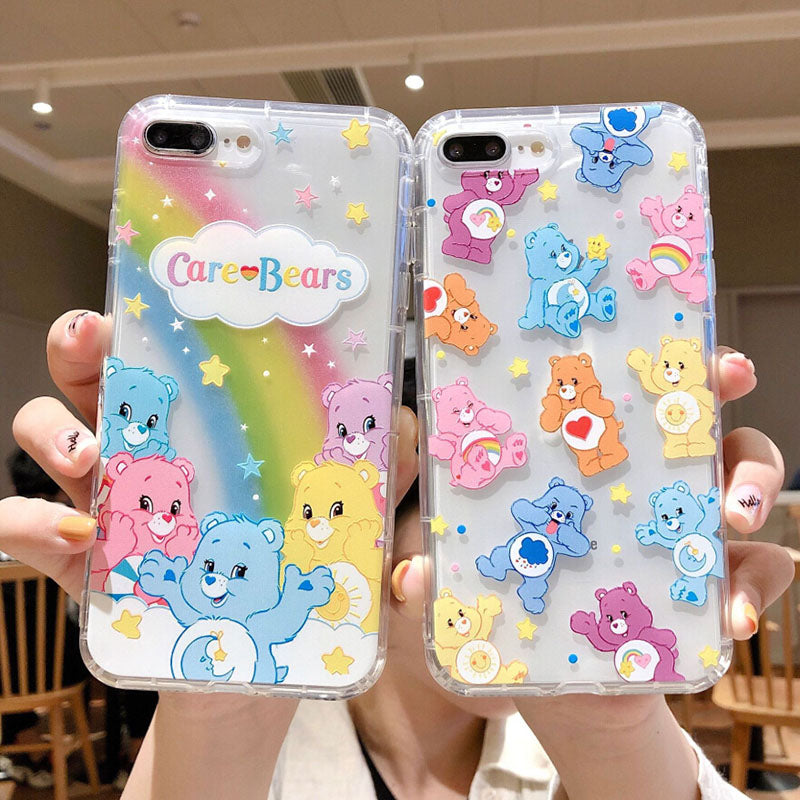 Soft TPU Cartoon Bear Fall Prevention phone case for iphone 6 7 8 plus