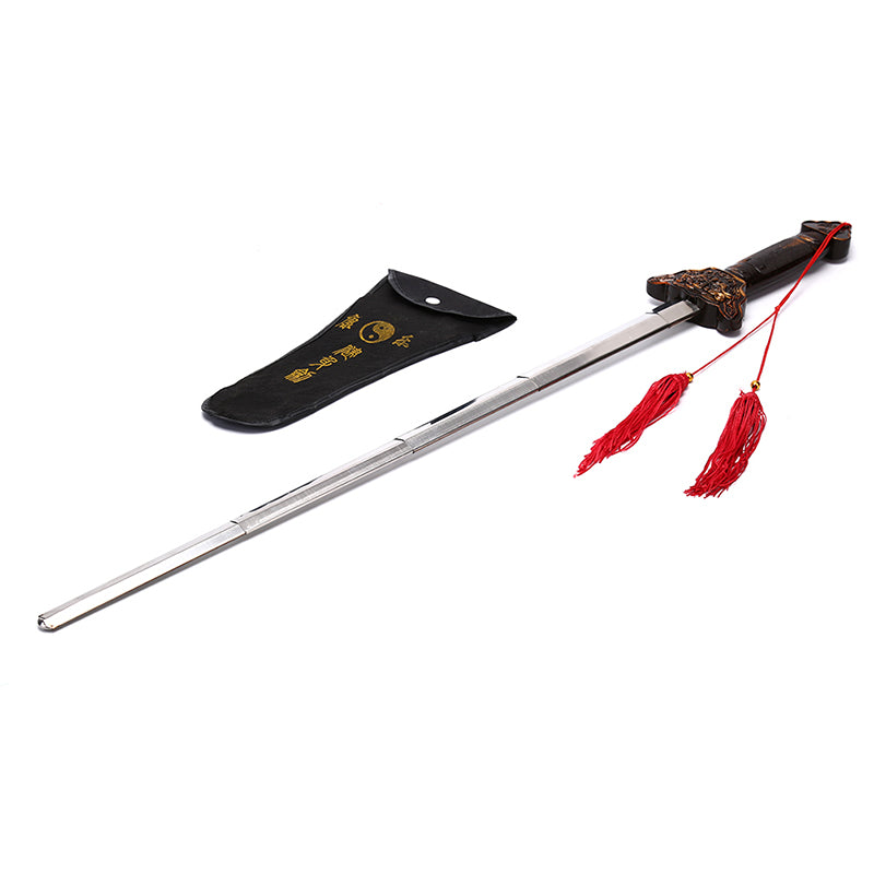 Outdoor Kung Fu Tai Chi Extension Sword Stainless Steel Telescopic Sword