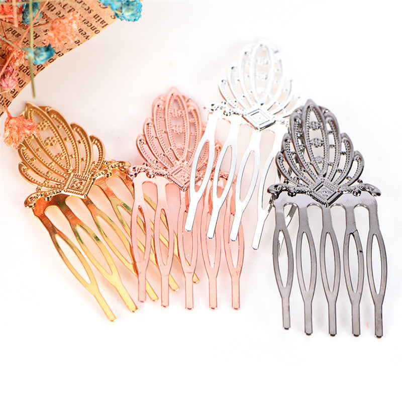 Multicolor 5 Teeth Hair Clip DIY Metal Hair Comb Bridal Jewelry Hair Accessories