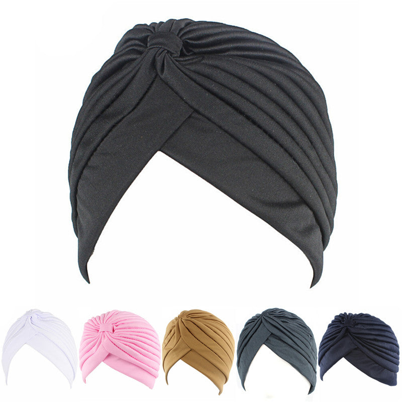 Fashion Men Women Stretchable Soft Indian Style Turban Hat Head Wrap Band Cap