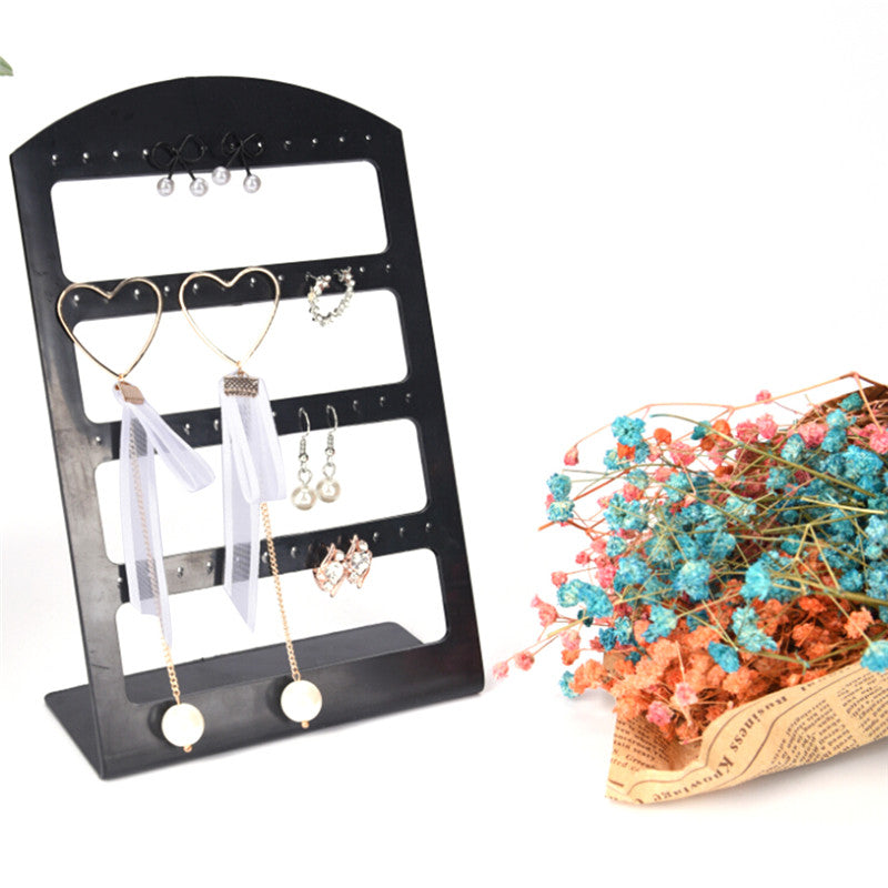 48 Holes Earring Rings Jewelry Plastic Display Rack Stand Organizer Holder Mold