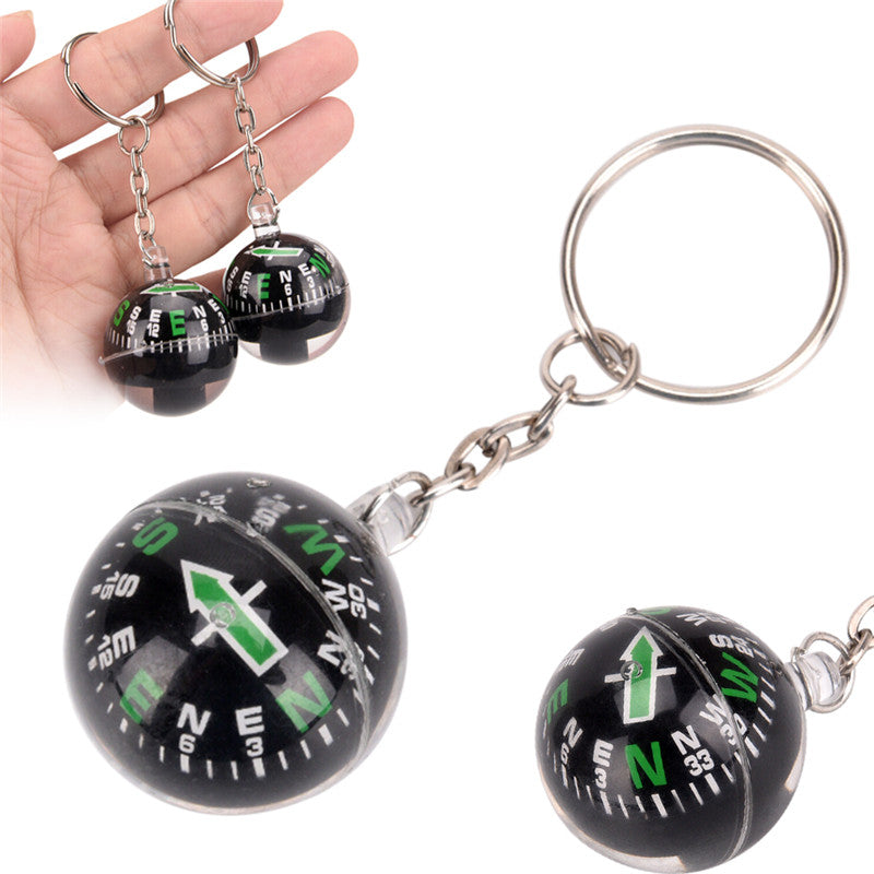 28mm Ball Compass Keychain Navigator Hiking Camping Travel Outdoor Survival