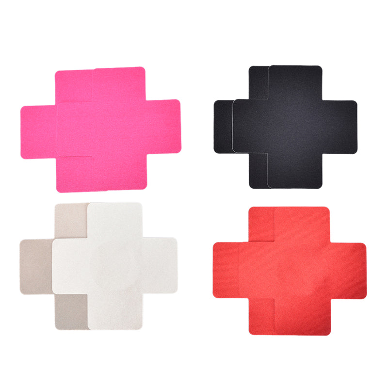 1 Pair Women Sexy Adhesive Nipple Covers Petals Breast and Sticker Cross Shape