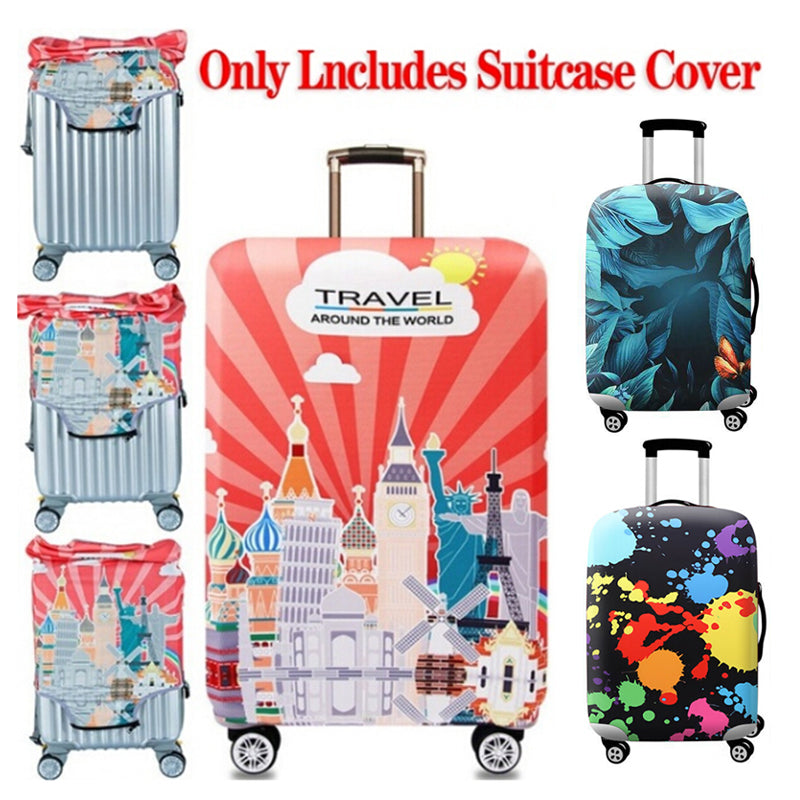 Printed Elastic Dustproof Travel Suitcase Protective Cover Luggage Protector
