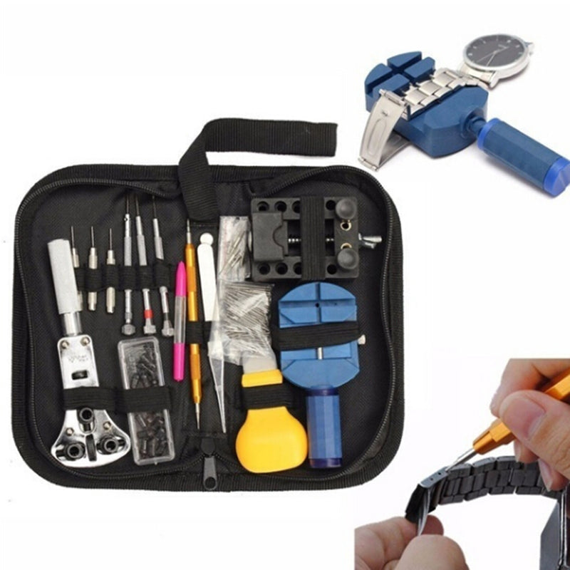 144pcs Watch Repair Tool Kit Watchmaker Back Case Remover Opener Spring Pin