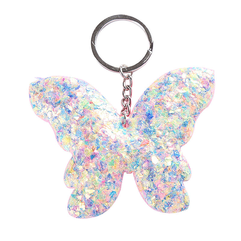 Jewelry Bag Accessories Handbag Pendant Butterfly Keyring Sequins Keychain