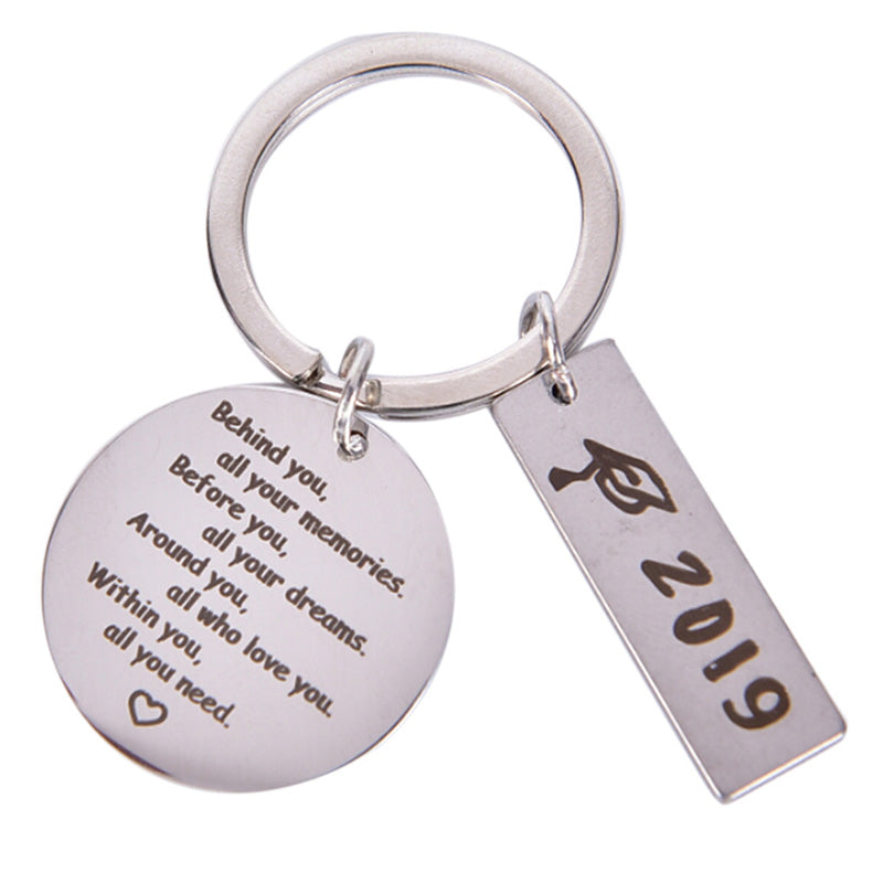 Graduation Keychain Take Pride in Keyring Stainless Steel Graduates Gifts 2019
