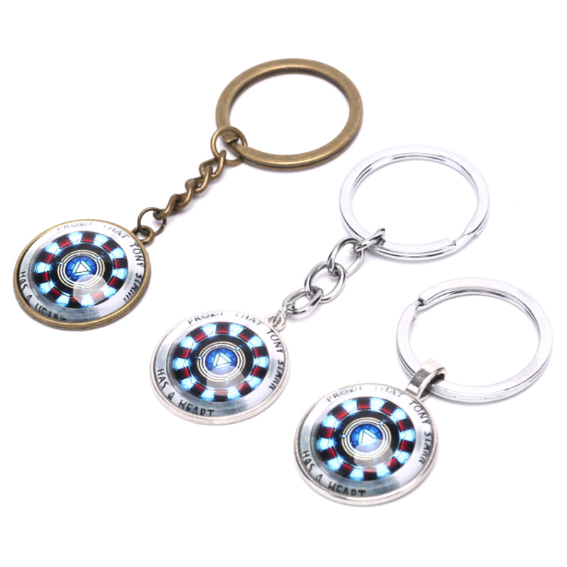 Avengers Iron Man Heart Gathering Time Gemstone Keychain Key ring Gifts