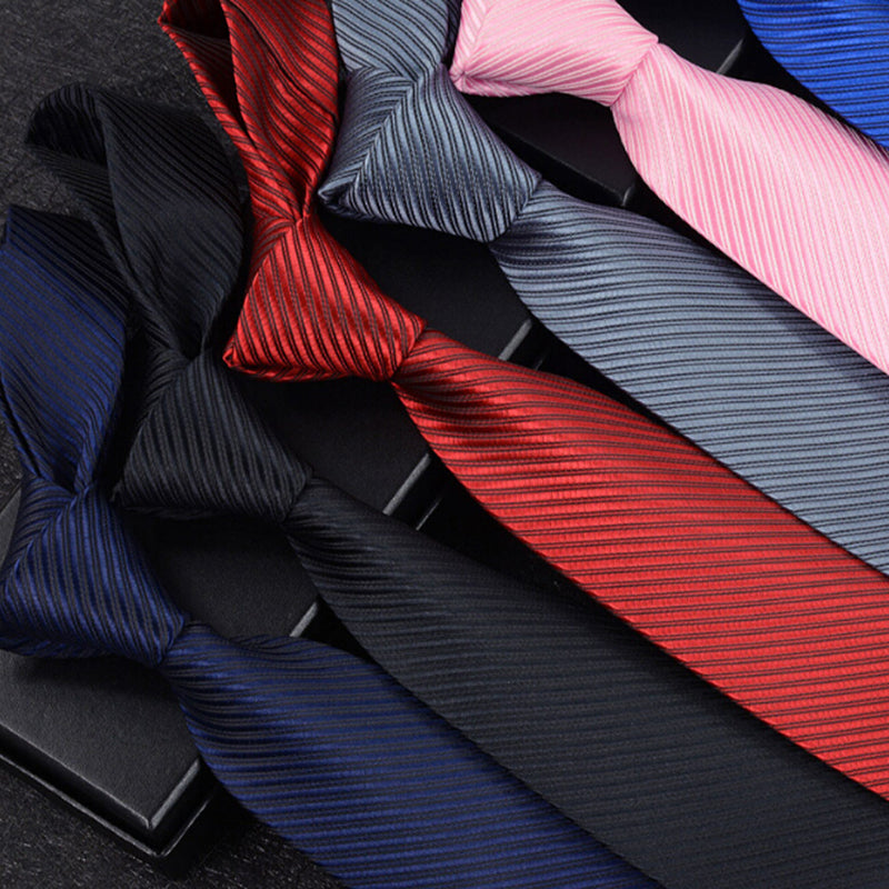 Jacquard Woven New Fashion Classic Striped Tie Men's Silk Suits Ties Necktie