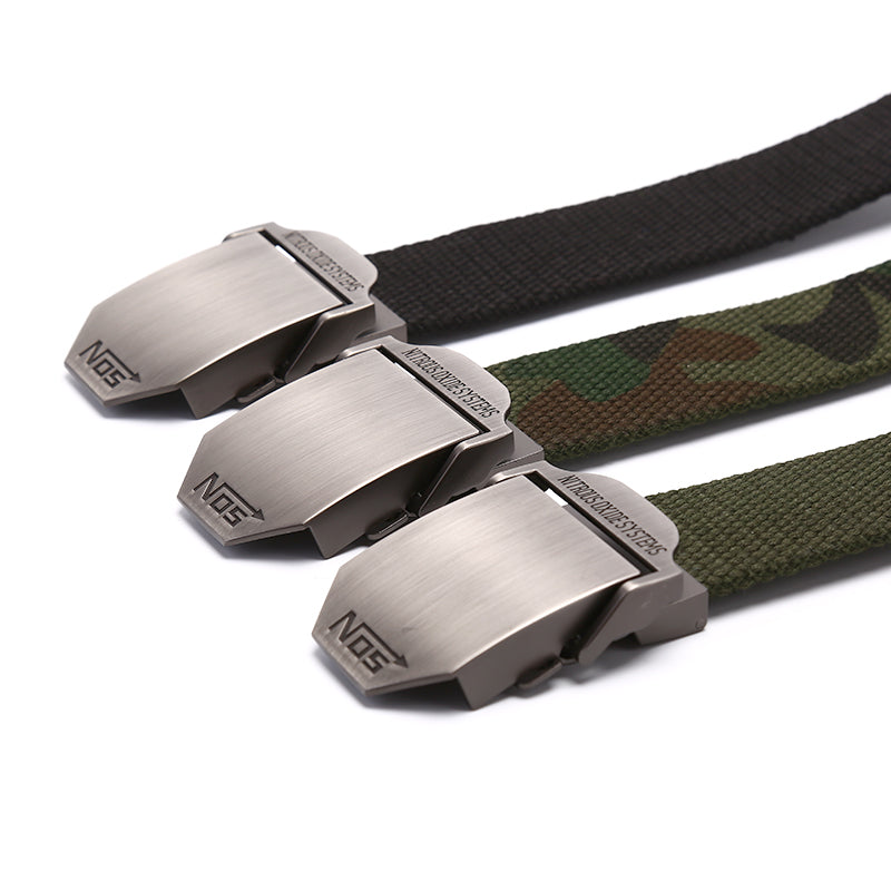 Mens Canvas Belt Military Tactical Waist Belt NOS Alloy Buckle Belts