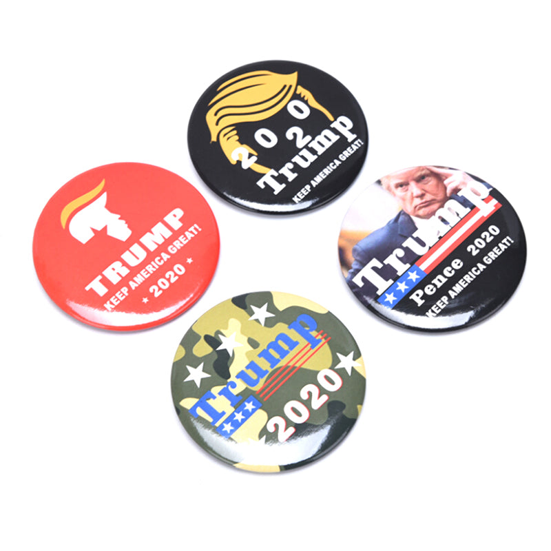 2020 Donald Trump Brooch Button Badge for President Campaign Decoration Gift New