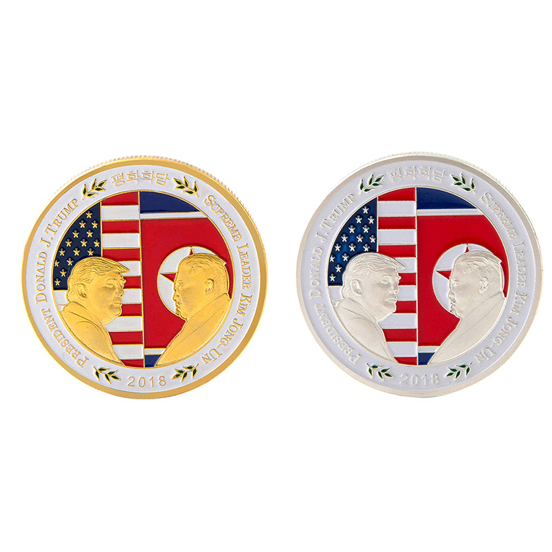 Commemorative Coin American North Korea Peace Talk Storage Collection Souvenir