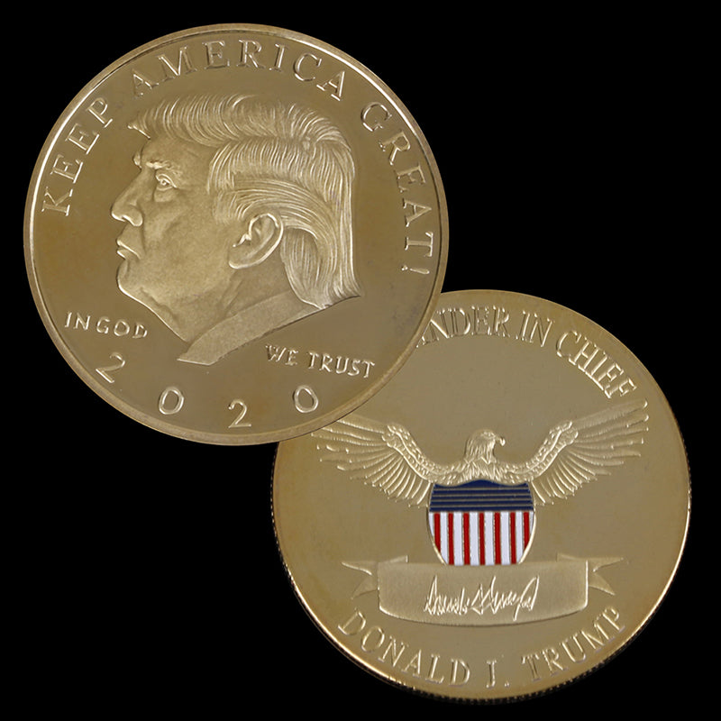 2020 Donald Trump Challenge Coin Gold Plated EAGLE Commemorative Novelty Coin