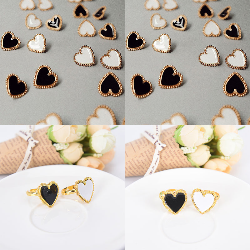 Fashion Women Punk Love Heart Ring Vintage Adjustable Ring Open Jewelry Gifts