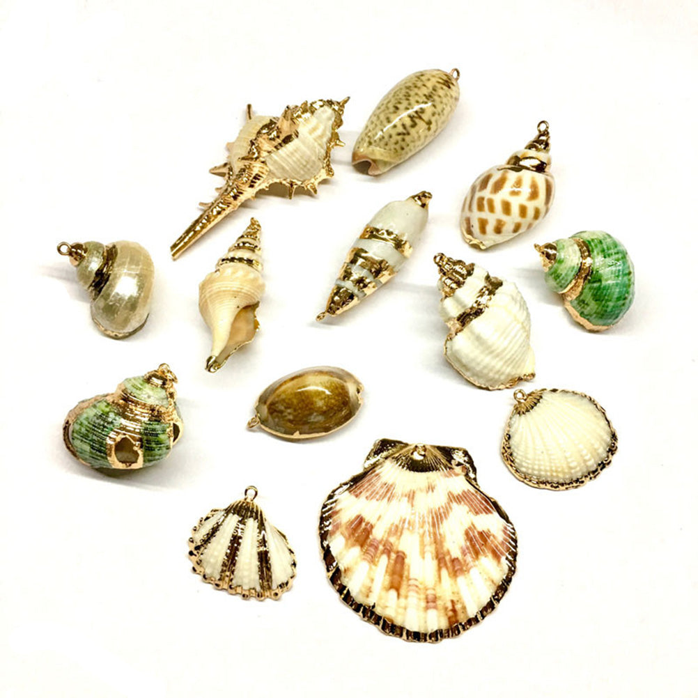 5Pcs/Lot Natural Shell Conch Charms Pendants Beads DIY Jewelry Findings Crafts
