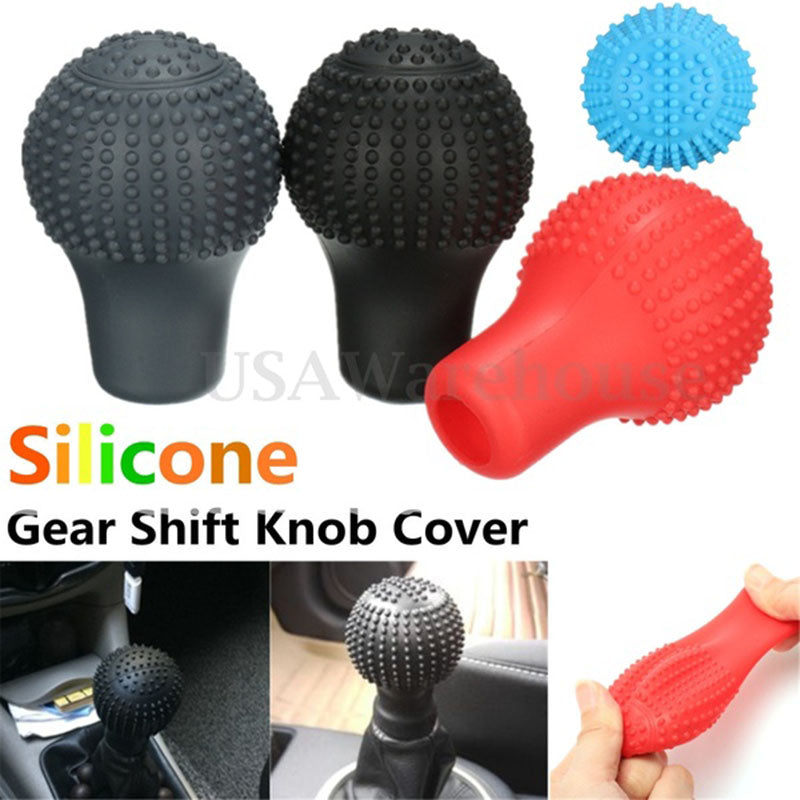 Universal Car Soft Gear Shift Collars Knob Silicone Roundness Protective Cover