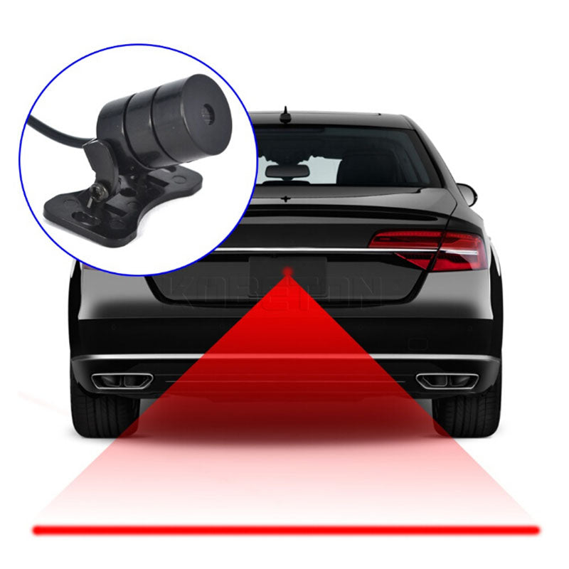 Car Motorcycle Laser Fog Light Anti Collision Tail Braking Signal Warning Lamp