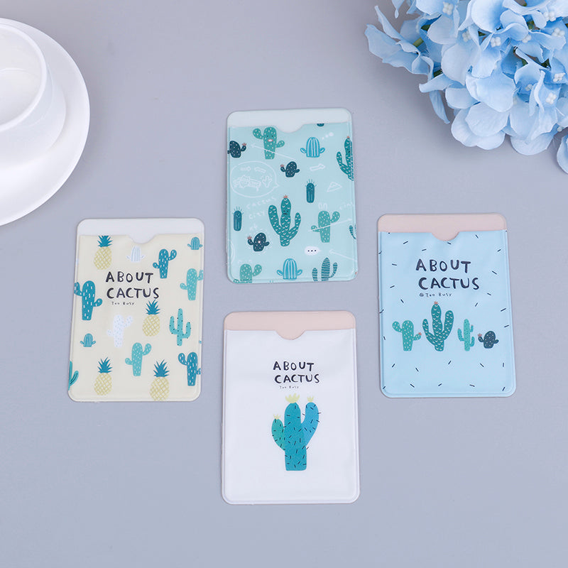 Cactus double-layer card note holder bus business credit cover case wallet