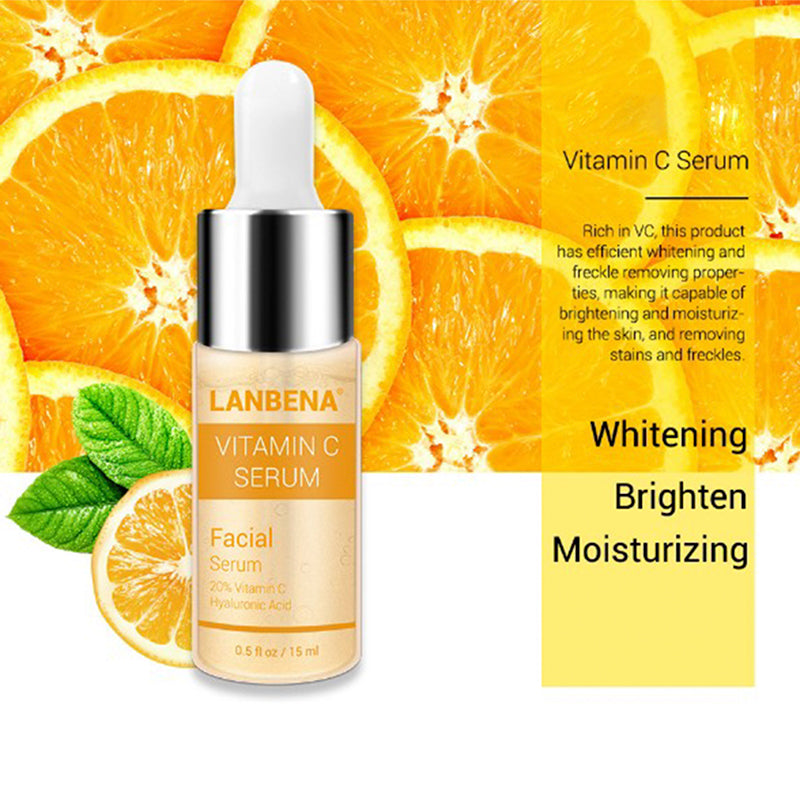 Vitamin C Skin Serum For Face Brightens 20% Hyaluronic Acid Anti Aging Wrinkle