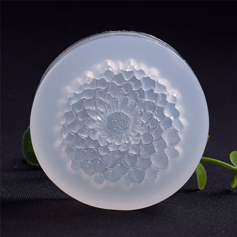 DIY Silicone 3D Flower Moulds Mold Resin Jewelry Pendant Making Tool
