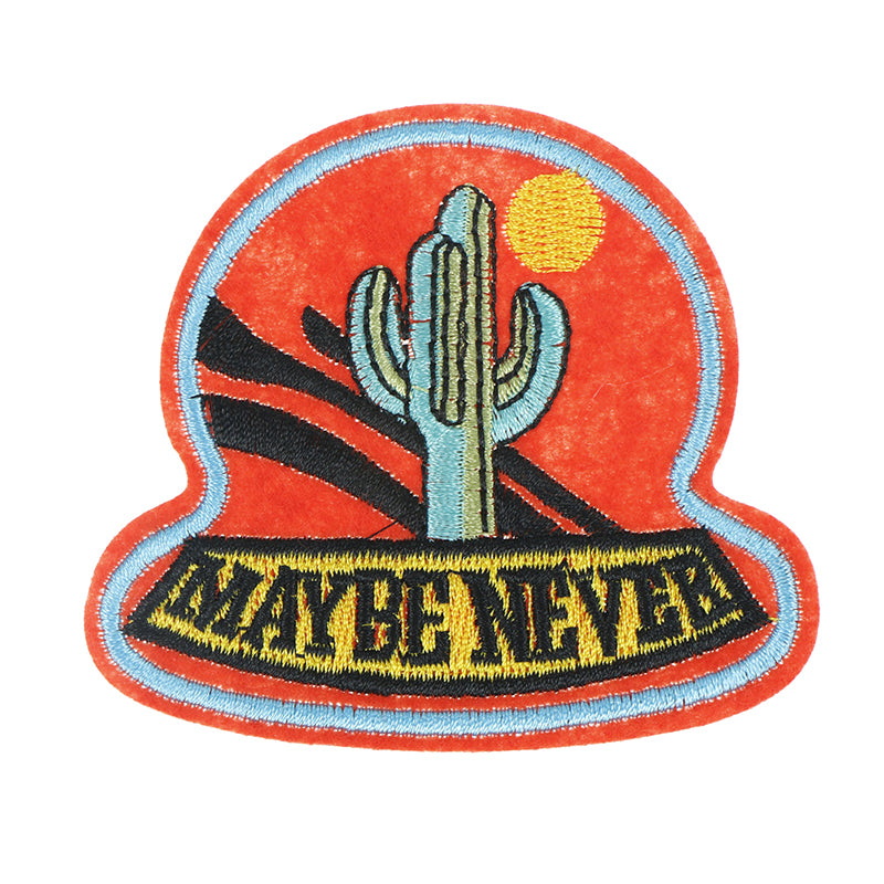 Cactus and sun Patch Applique Embroidered Patches Sew on Badge
