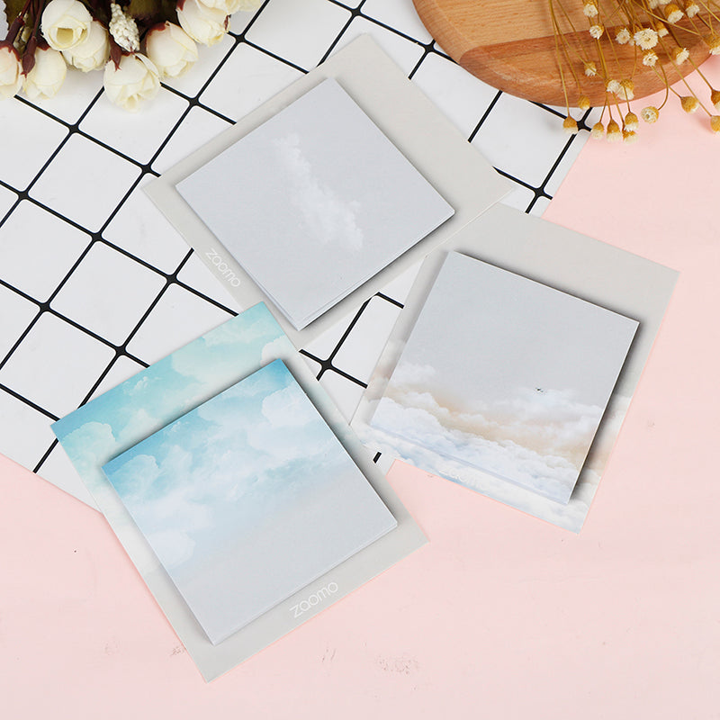 1PC Weather Series Cute Diary Memo Pad Sticky Notes Planner Sticker