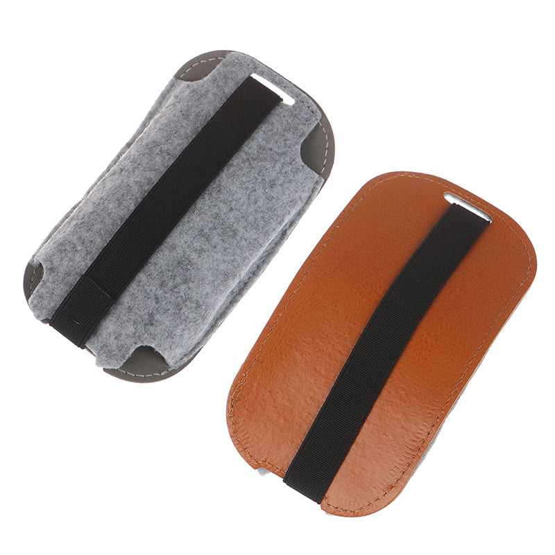 Orange PU Leather Mouse Pouch Case Mice Case Storage Bag for Magic Mouse