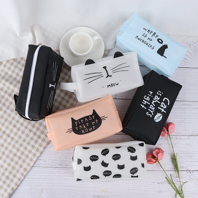 Cat Pencil Case For School Supplies Novelty Pencil Bag Stationery Girls Gift