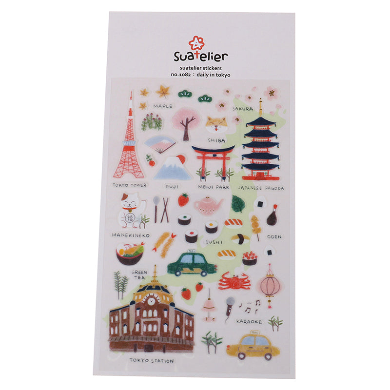 Tokyo daily Decorative Stationery Stickers Scrapbooking DIY Diary Album Label