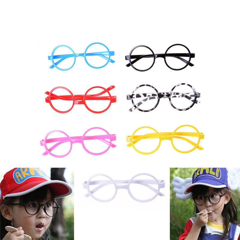 Cute Kids Glasses Without Lens Party Dress Cosplay Props Baby Frame Glasses Gift Fashion