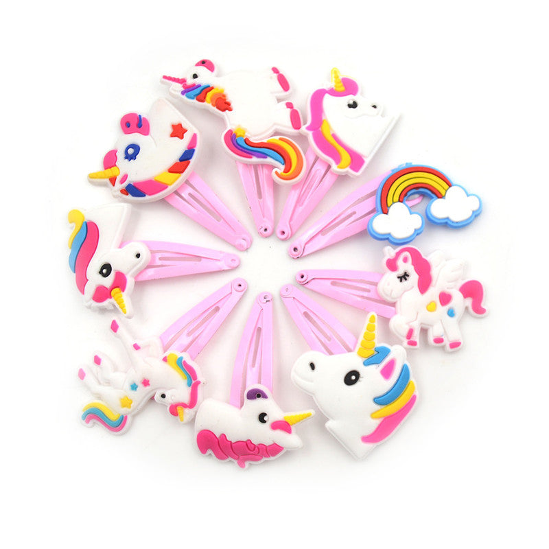4Pcs Fashion Baby Hair Clips Unicorn Hairpin Kids Girl Hair Accessories Gift