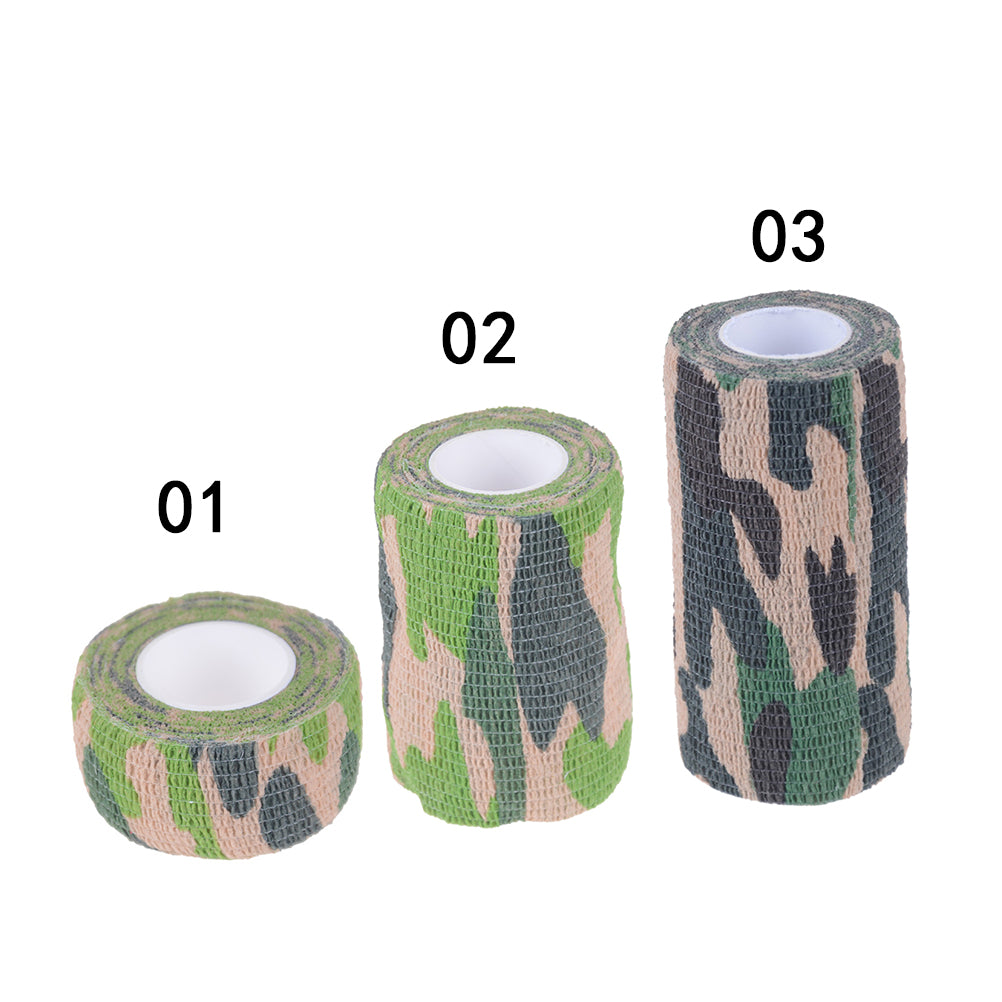 Self Adhesive Elastic Bandage Medical First Aid Nonwoven Cohesive Wound Manicure Army Green