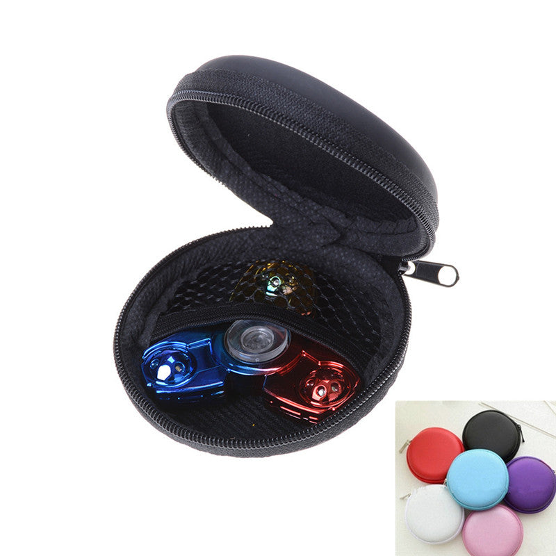 Fidget Hand Spinner Triangle Bag Finger Toy Focus ADHD Autism Box Bag Case