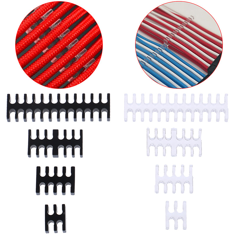 Cable Comb/Clamp/Clip/Dresser For 2.5-3.0mm 4/8/12/24 Pin Sleeving Cables