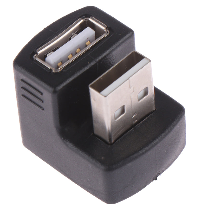 90 degree 180 degree USB 2.0 A male to female m/f converter adapter connector