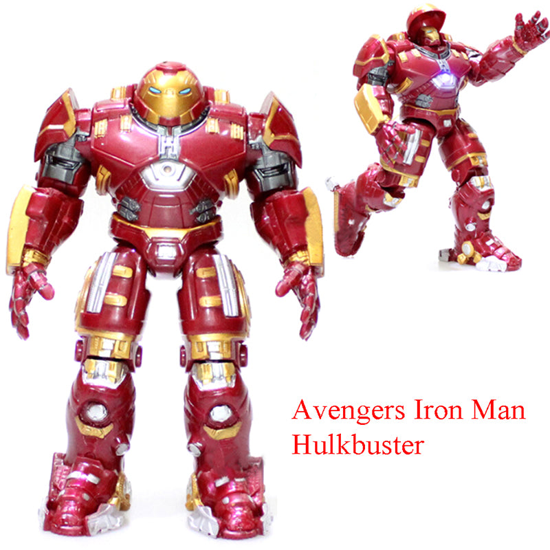 Super Avengers Iron Man Hulkbuster Action Figures Toy (Light)