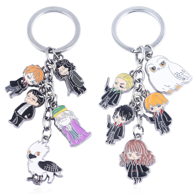Harri potter metal phone strap keychain keyring figure pendant toys gifts