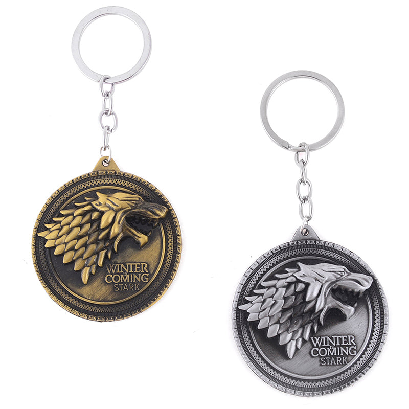 Game of Thrones Keychain House Stark Wolf Key ring Souvenir Gift