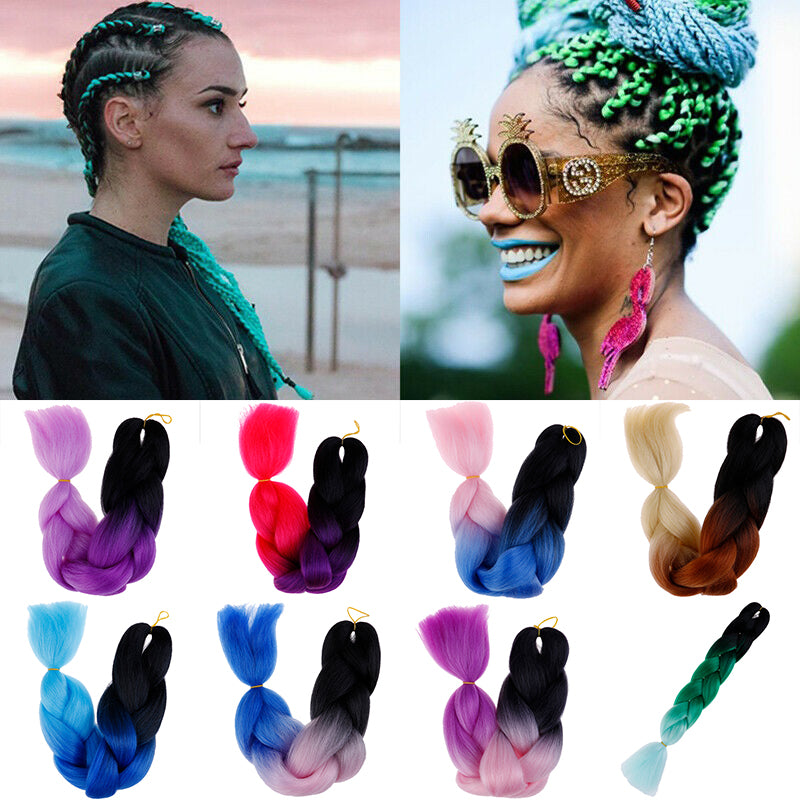 Sew in Jumbo Braids Braid Hair Extension Synthetic Hair for Braiding Rasta Ombre