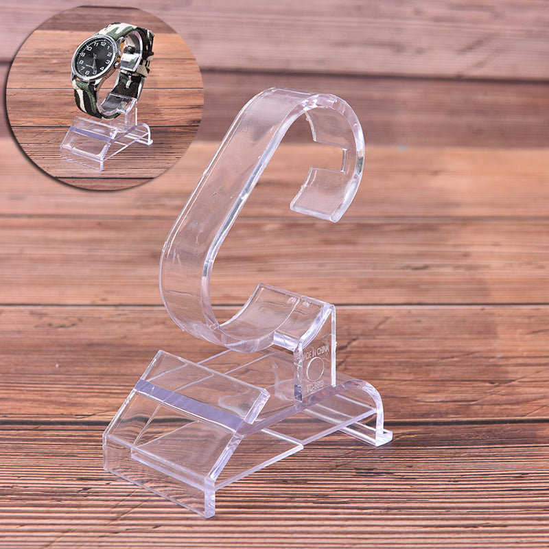 1pc transparent plastic clear jewelry bracelet watch display stand holder