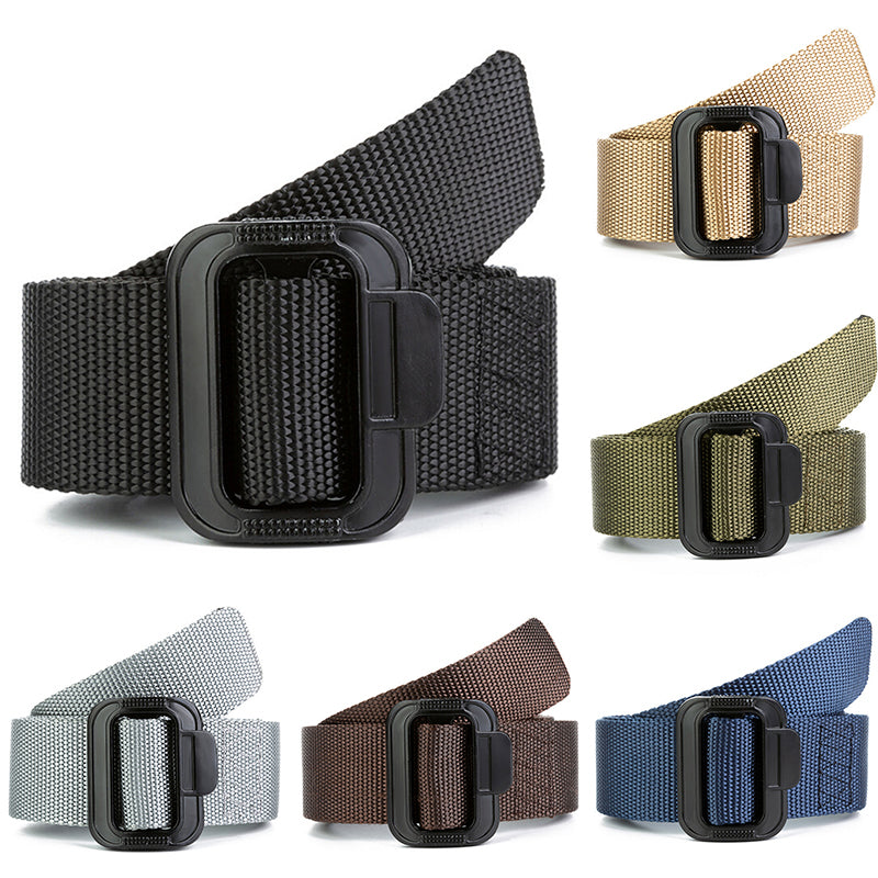 Men Outdoor Belt Overalls Tactical Nylon Quick-drying Woven Canvas Waistband