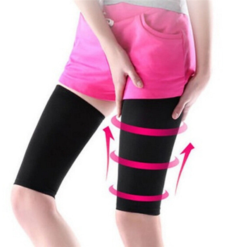 Elastic Ladies Compression Slimming Thigh Leg Shaper Sleeve  Fitness Elbow Socks