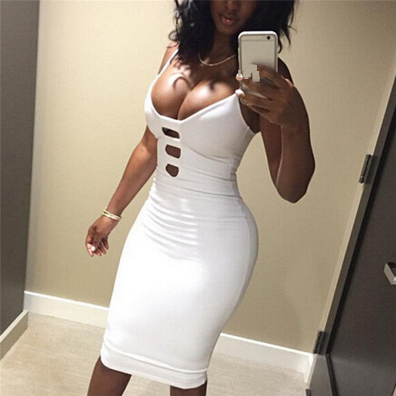 Women's Short Mini Dress Bodycon Bandage Sleeveless Evening Party Cocktail Club