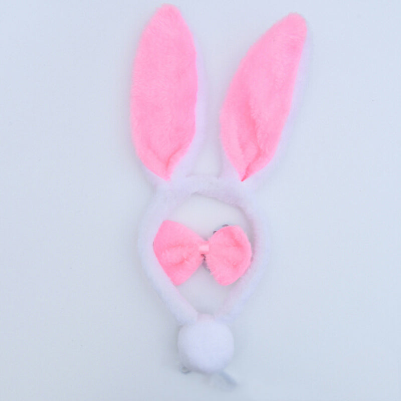 Halloween Christmas Costume Rabbit Bunny Ears Headband Cute Plush Hair Band